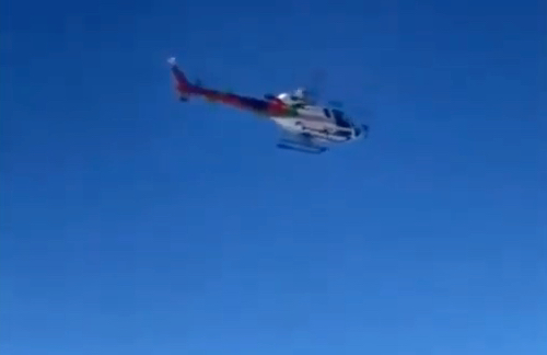 Ski resort uses helicopters to bring in more snow