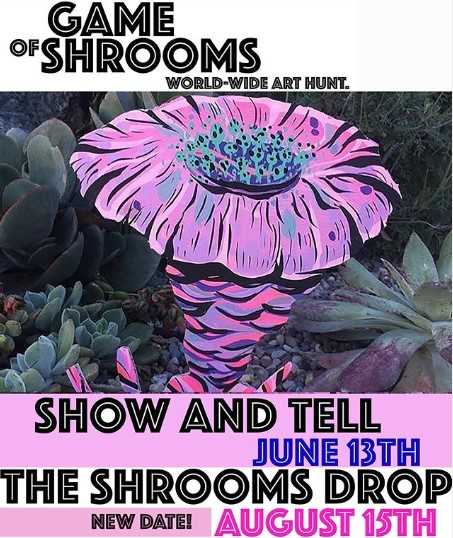 """Artists worldwide to play """"hide and seek"""" with mushroom art for """"Game of Shrooms"""""""