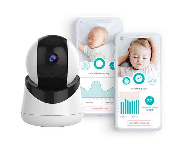 The Smart Beat monitor knows and studies your baby's breathing as they sleep
