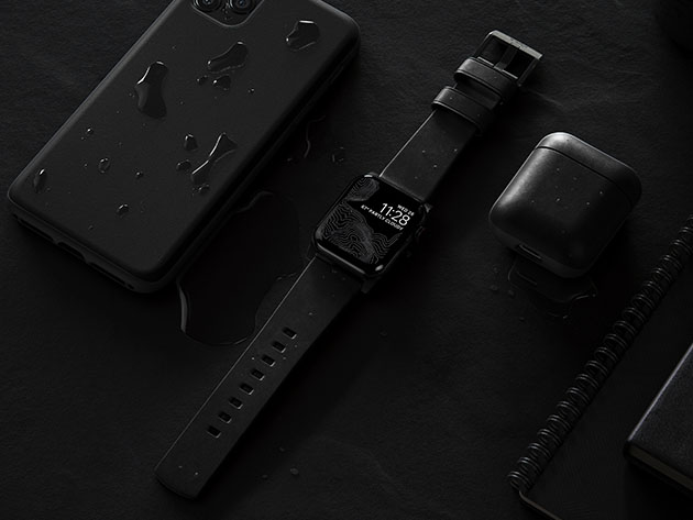 This leather and stainless steel Active Strap is the band your Apple Watch never knew it needed