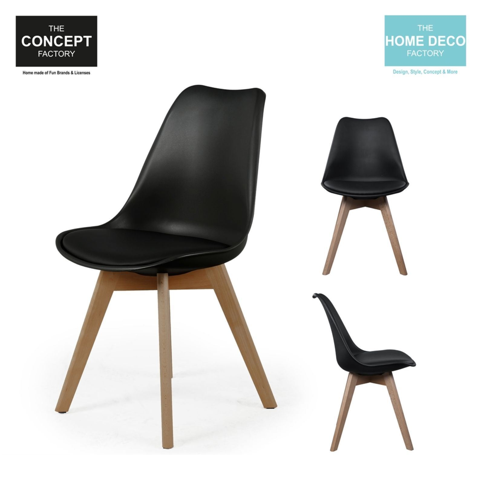 The Home Deco Factory Lot De 2 Chaises Scandinave Avec