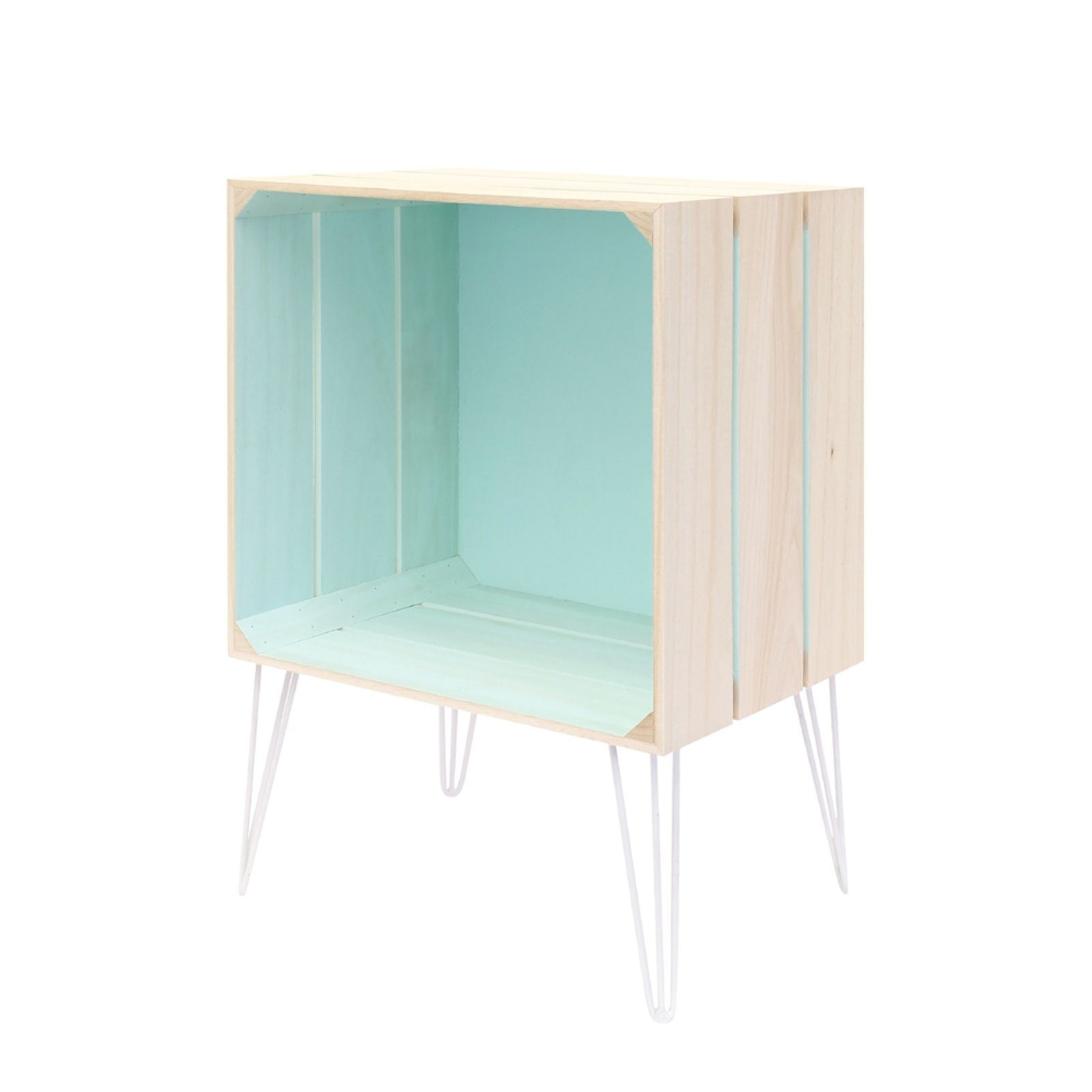 Affordable The Home Deco Factory Meuble Cagette Turquoise