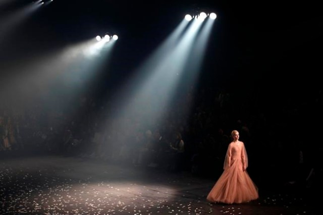 A model wears a creation for Christian Dior's Spring/Summer 2019 ready to wear fashion collection presented in Paris, Monday, Sept. 24, 2018. (AP Photo/Christophe Ena)