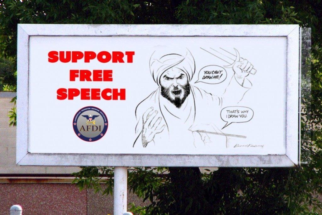afdi free speech drawing billboard