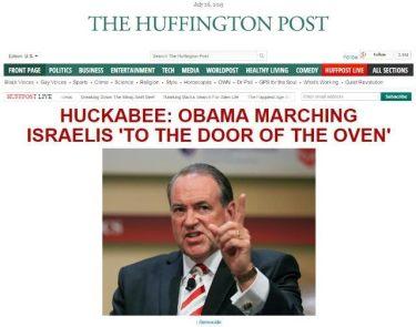 huckabee holocaust ovens