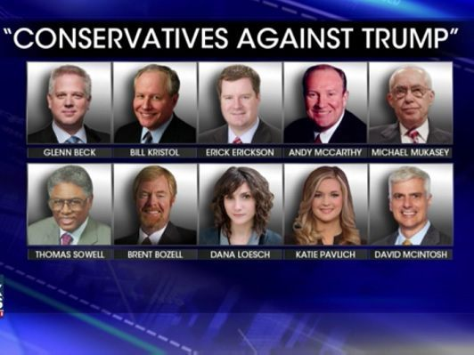Image result for Conservatives against Trump