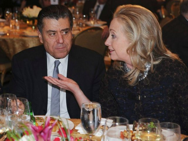 Report: Hillary Clinton Rallies Donors at Haim Saban's House in Beverly Hills