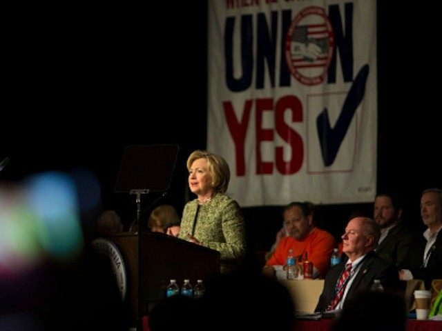 In this campaign cycle, Big Labor is expected to spend close to two billion dollars, mostly dues and fees employees are forced to fork over as a condition of employment, to elect Clinton-Kaine. But a recent scientific nationwide poll shows that, among likely voters who belong to a union household, 51% plan to vote against Big Labor's presidential ticket. Image: Jessica Kourkounis/Getty Images