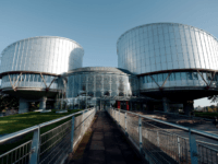 The European Court of Human Rights (ECHR) is seen during a hearing concerning the terrorist attack on a school in Beslan, North Ossetia (Russia), in September 2004, on October 14, 2014 in Strasbourg, eastern France. More than 330 hostages had been killed during the attack by pro-Chechen rebels, 186 of them were children, and about 750 people were injured. AFP PHOTO/FREDERICK FLORIN (Photo credit should read FREDERICK FLORIN/AFP/Getty Images)