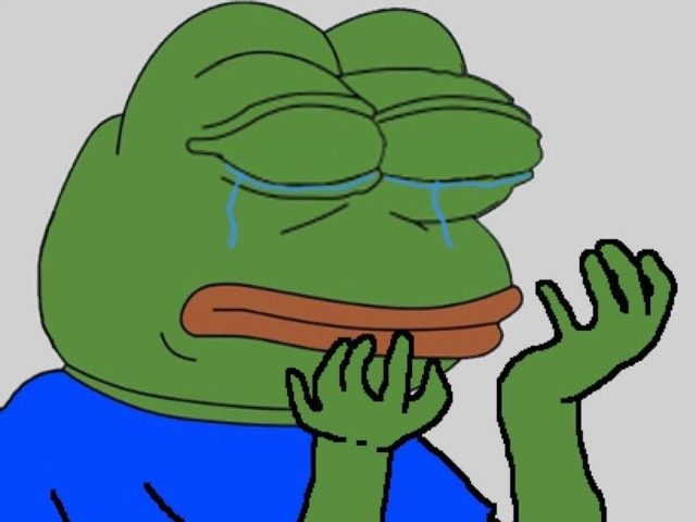Image result for sad trump pepe