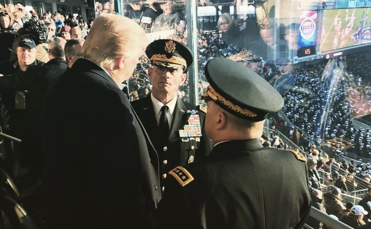 Image result for military big trump america