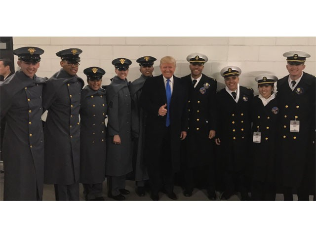 Exclusive Army Navy Game Appearance First Day Of Trumps