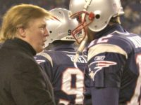 Trump-Tom Brady on field 2004-ELISE AMENDOLAAP