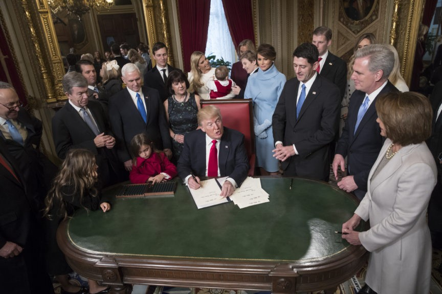 Image result for 20 January 2017 Presidential donald j. trump and Vice President Mike Pence