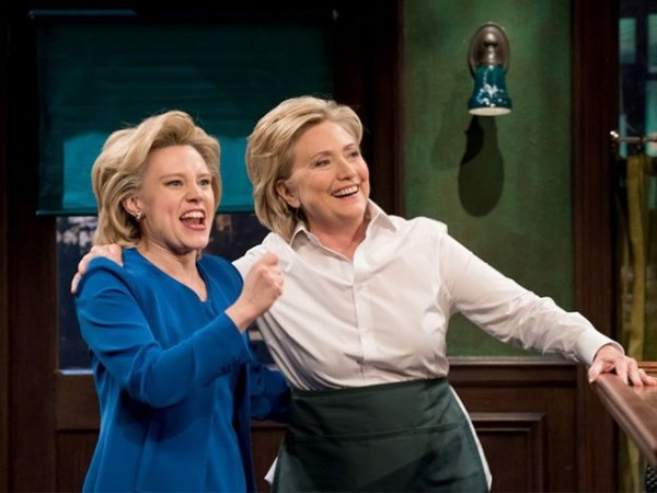 Hillary Clinton Dines with Her 'SNL' Impersonator Kate ...
