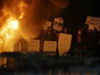 Protestors Bonfire
