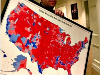 Report: Donald Trump to Hang Portrait of Electoral College Landslide in White House - Breitbart