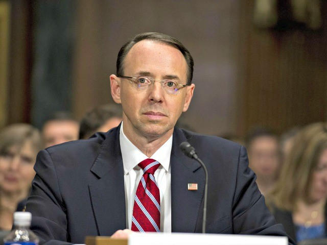Rod Rosenstein Resignation Threat Looks to be 'Fake News' - Breitbart
