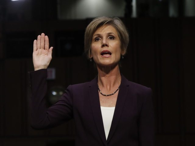 Yates Admits Defying Executive Order Partly 'as a Policy Matter' - Breitbart