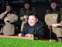 This undated photo released by North Korea's official Korean Central News Agency (KCNA) on December 11, 2016 shows North Korean leader Kim Jong-Un (front C) during a combat drill of the service personnel of the special operation battalion of the Korean People's Army Unit 525. / AFP / KCNA VIA KNS / KNS / South Korea OUT / REPUBLIC OF KOREA OUT ---EDITORS NOTE--- RESTRICTED TO EDITORIAL USE - MANDATORY CREDIT 'AFP PHOTO/KCNA VIA KNS' - NO MARKETING NO ADVERTISING CAMPAIGNS - DISTRIBUTED AS A SERVICE TO CLIENTS THIS PICTURE WAS MADE AVAILABLE BY A THIRD PARTY. AFP CAN NOT INDEPENDENTLY VERIFY THE AUTHENTICITY, LOCATION, DATE AND CONTENT OF THIS IMAGE. THIS PHOTO IS DISTRIBUTED EXACTLY AS RECEIVED BY AFP. / (Photo credit should read KNS/AFP/Getty Images)