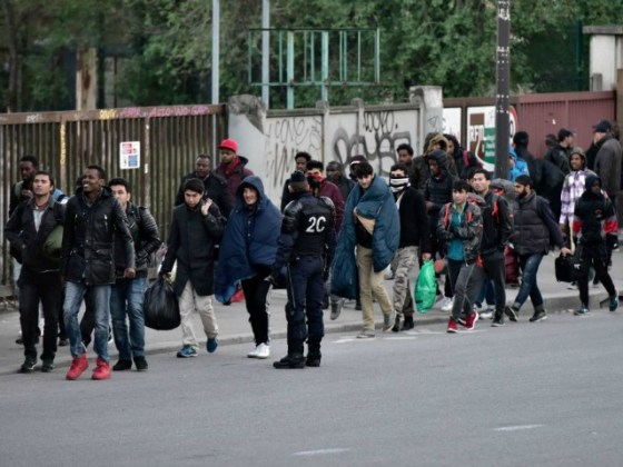 Paris s Largest Migrant Camp Evacuated by Police 1 600 migrants in the largest makeshift migrant camp in Paris near the Porte  de la Chapelle metro station have been evacuated by police concerned about  the