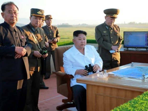 The North's leader Kim Jong-Un supervised the launch of the guided ballistic rocket -- the third missile test by the nuclear-armed regime in less than three weeks and carried outin defiance of US threats of military action and UN sanctions