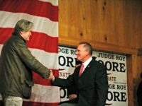 Moore, Bannon on stage