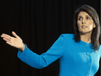 """U.S. Ambassador to the U.N. Nikki Haley speaks during a press briefing at Joint Base Anacostia-Bolling, Thursday, Dec. 14, 2017, in Washington. Haley says """"undeniable"""" evidence proves Iran is violating international law by funneling missiles to Houthi rebels in Yemen. Haley unveiled recently declassified evidence including segments of missiles launched at Saudi Arabia from Houthi-controlled territory in Yemen. (AP Photo/Cliff Owen)"""