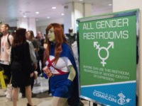 General view of all gender restroom sign during Emerald City Comic Con at Washington State Convention Center on March 3, 2017 in Seattle, Washington. (Photo by Mat Hayward/Getty Images)