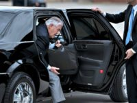 Tillerson Gets Out of Car