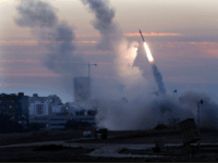 """The Iron Dome defense system fires to interecpt incoming missiles from Gaza in the port town of Ashdod, Thursday, Nov. 15, 2012. Israels prime minister Benjamin Netanyahu said Thursday that the army is prepared for a """"significant widening"""" of its operation in the Gaza Strip. (AP Photo /Tsafrir Abayov)"""
