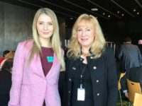 Lauren Southern and ENF MEP Janice Atkinson at the European Parliament.