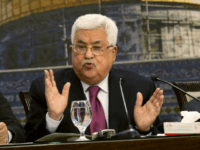 Palestinian President Mahmoud Abbas speaks during a meeting of the Palestinian National Council at his compound in the West Bank city of Ramallah, Monday, April 30, 2018. (AP Photo/Majdi Mohammed)