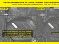 """An Israeli satellite imaging company on Thursday released images showing what it described as """"unusual"""" movement around the Iranian Fordo nuclear facility, a one-time uranium enrichment plant buried deep underground that was converted to a research center as part of the 2015 nuclear deal."""