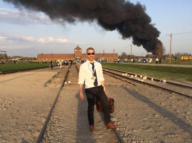 Joel Pollak at Birkenau (Joel Pollak / Breitbart News)