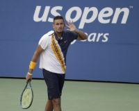 US Open umpire's Kyrgios visit scrutinized; Wozniacki loses