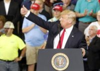 Thousands of Trump supporters flock to Indiana rally