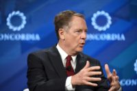 "United States Trade Representative Robert Lighthizer and his counterparts ""reiterated their concern with and confirmed their shared objective to address non-market-oriented polices"""