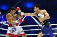 Japan's Ryota Murata, shown right against Italy's Emanuele Blandamura, defends his WBA middleweight title Saturday against American Rob Brant