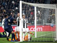 A 90th-minute own goal by Leonardo Bonucci condemned Juventus to their first defeat of the season
