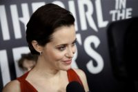 """British actress Claire Foy -- shown here at a New York screening of """"The Girl In The Spider's Web"""" -- won an Emmy this year for her portrayal of Queen Elizabeth II in Netflix's """"The Crown"""""""