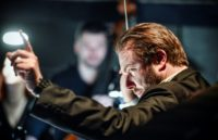 Russian-American conductor and pianist Ignat Solzhenitsyn, son of famous Russian writer and dissident Alexander Solzhenitsyn, rehearsing the opera based on his father's story