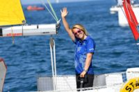 British skipper Susie Goodall was briefly knocked unconscious when mountainous seas upended her yacht DHL Starlight
