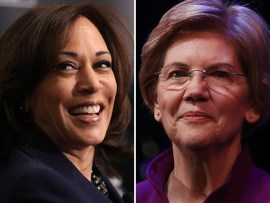 Image result for Kamala Harris & Elizabeth Warren