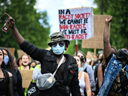 LONDON, UNITED KINGDOM - JUNE 21: Protestors take part in a march towards Parliament Square on June 21, 2020 in London, United Kingdom. Black Lives Matter protests are continuing across the UK following the death of African American George Floyd at the hands of police officers in Minneapolis on May …