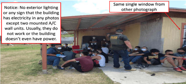 Border Patrol agents detain a group of migrants outside a human smuggling stash house in South Texas. (Photo: U.S. Border Patrol)