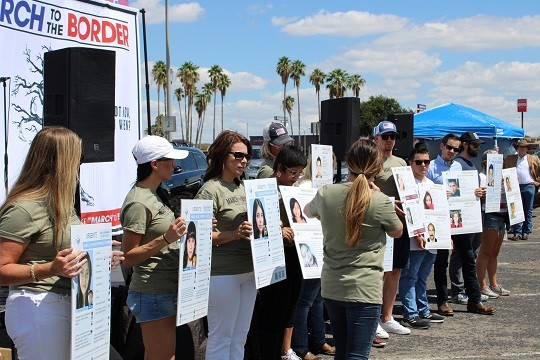 Hundreds gather at a March to the Border rally in McAllen, Texas, to learn about child trafficking. (Photo: Randy Clark/Breitbart Texas)