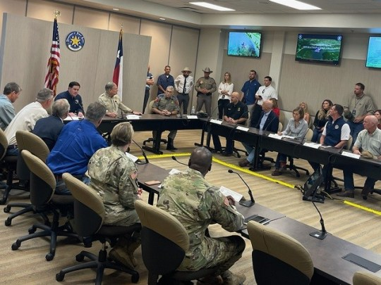 Governor Abbott meets with nine Republican governors for a border briefing in Mission, Texas. (Photo: Randy Clark/Breitbart Texas)