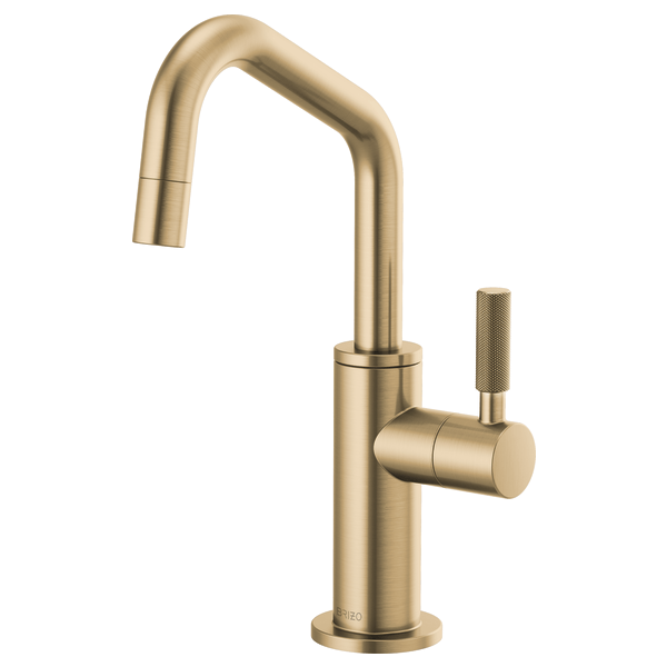 beverage faucet with angled spout and