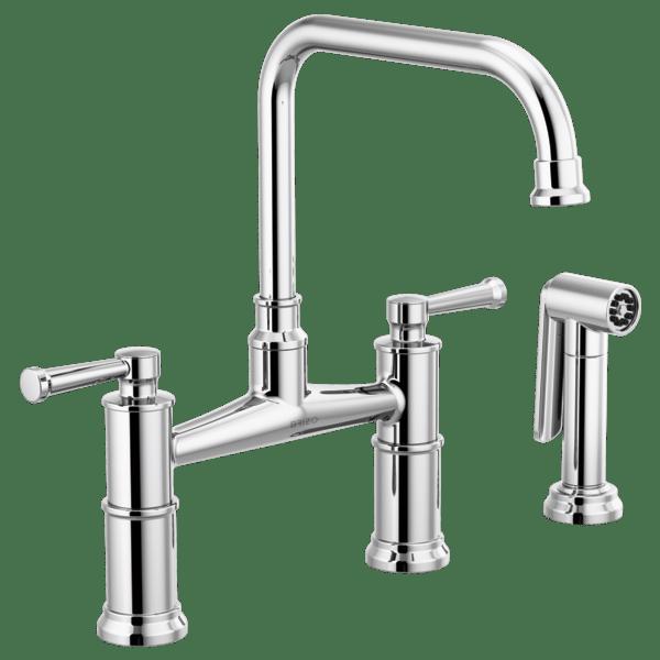 artesso bridge faucet with side sprayer